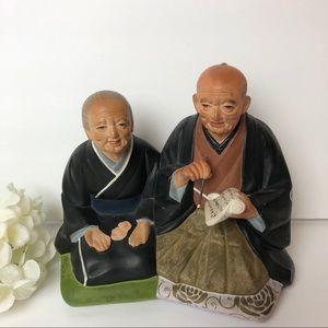 RARE Hakata Urasaki Japanese Figurine DollMan Wife